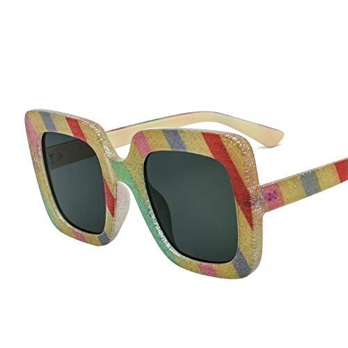 Gafas de Sol Gafas De Sol Cuadradas Gafas De Sol con Protección UV Gafas De Sol De Caja Grande De Moda protección para los Ojos (Color : B)