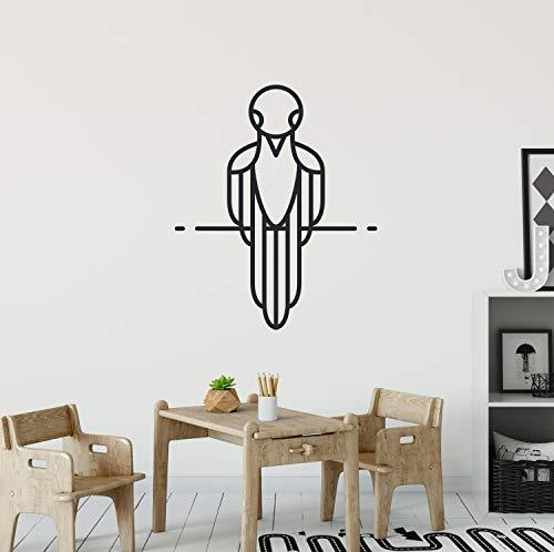 Vogel muursticker bos vogel zwart Vinyl Silhouette ontwerp eenvoudige lijnen muur Sticker zwart vogel Decor grote muurschildering speciale Sticker CG960