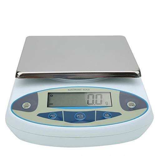 AHDJDHY Báscula Digital 30 kg 0.1g Balanza de Laboratorio Balanza electrónica Digital de precisión -240 V Bascula Cocina, Enchufe de EE. UU.