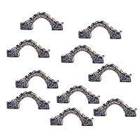 モデルブリッジ 橋 樹脂 模型 ミニ 風景 箱庭 鉄道模型 建物模型 情景コレクション 10個 グレー