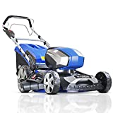 """Hyundai 80V Lithium-Ion Cordless Battery Powered Self Propelled Lawn Mower 18"""" Cutting Width With Battery & Charger, 3 Year Warranty, HYM80LI460SP, Blue"""