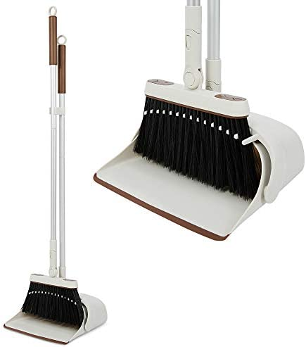 Cute broom and dustpan