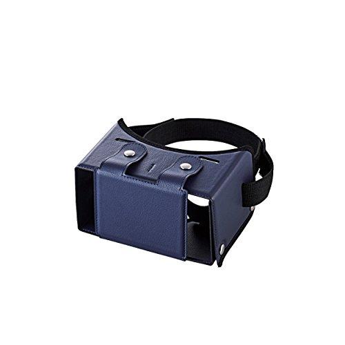 エレコム 3D VR ゴーグル 組立式 固定バンド付き 折りたたみ可 ブルー P-VRG01BU