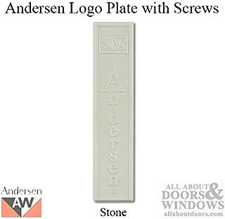 Andersen Window - Perma-Shield Gliding Door Logo Plate w/ Screws, Plastic - Stone