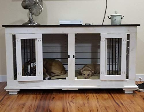 "Custom Indoor Kennel Furniture for you Dog/Pets Home of The Ritz-Kennelton""It's a Suite Spot for your Pets"" All Handmade to order!Rustic Knotty Grainy Pine Wood.Dog kennel or Dog crate."