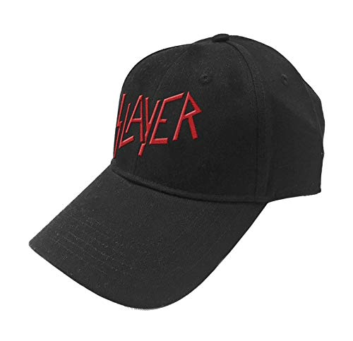 Slayer Baseball Cap Classic Band Logo Reign in Blood offiziell Schwarz Strapback