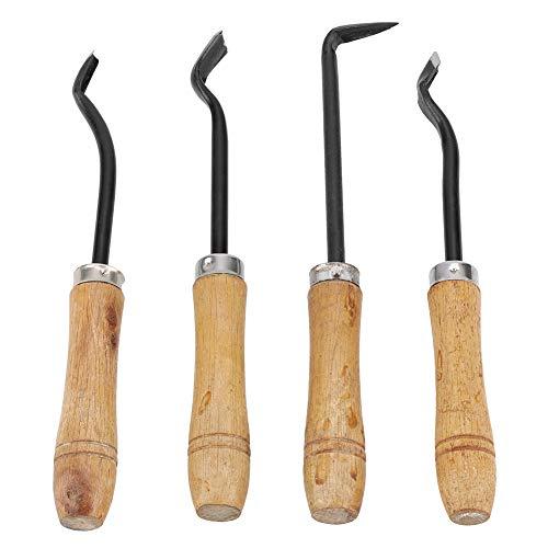 4 Pcs Bonsai Tool Set Handmade Sharp Bonsai Engraving Blade Carving Chisel Steel Garden Fruit Tree Grafting Tool Kit