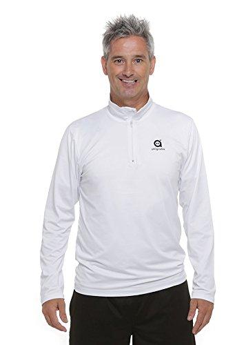 a40grados Sport & Style Cool Camiseta Manga Larga de Tenis, Hombre, Blanca, 44