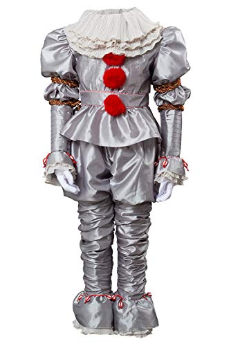 tianxinxishop Costume da Clown Horror Film Cosplay Costume da Circo Tessuto Cationico, L