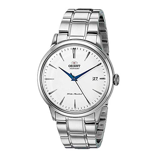'Orient Men's ' Bambino Version 5' Japanese Automatic / Hand-Winding Stainless Steel Bracelet Dial Color: White Model #: RA-AC0005S10A'