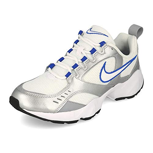 Nike Herren Air Heights Leichtathletikschuhe, Mehrfarbig (White/Racer Blue/Metallic Silver 103), 44.5 EU