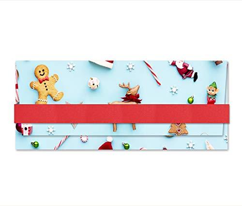 Porta soldi - Buon Natale - Christmas - busta portasoldi (formato 22 x 9,5 cm) + biglietto d'auguri...