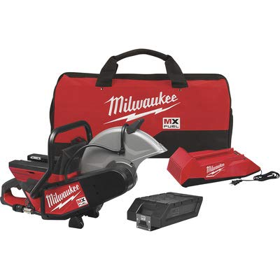Milwaukee MX FUEL Lithium-Ion Cordless 14 in. Cut Off Saw Concrete Kit with (1) Battery and Charger