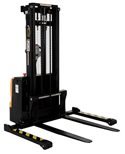 Vestil S-101-AA-DM Steel Adjustable Stacker Double Mast, 2200 lb. Capacity, 72