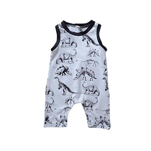zolimx_bebé Baby Jungen (0-24 Monate) Spieler Grau grau, Grau 80