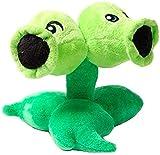 Ozkocak Plants vs Zombies Plush Figure Doll, Teddy Bear Stuffed Animal Plush PVZ Plush Game Birthday, Hallowen Valentinas, Christmas, Super Gift for Your Party and Every Age(Split Pea)