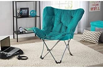 Mainstays Collapsible Butterfly Chair with Soft Microsuede Fabric, (Teal)