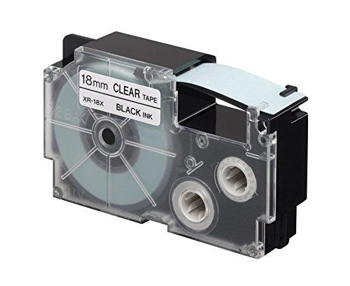 CASIO EZ-Label Printer XR-18X1 Schriftband selbsthaftend 18 mm x 8,0 m schwarz auf transparent