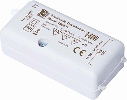Heitronic BLV Licht&Vakuum 45600101 230/12V dimmbar Lichtsystem/NV-Halogenlampe 4041061073561 Elektronischer Trafo, 60 W