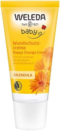 WELEDA Baby Calendula Wundschutzcreme/Babycreme, Naturkosmetik Wundsalbe für den Schutz empfindlicher...
