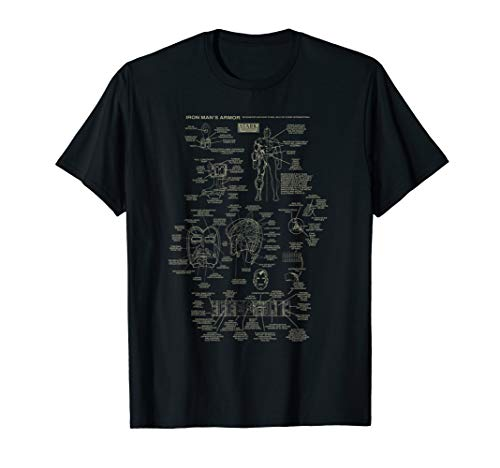 Marvel Iron Man Stark Industries Armor Details T-Shirt