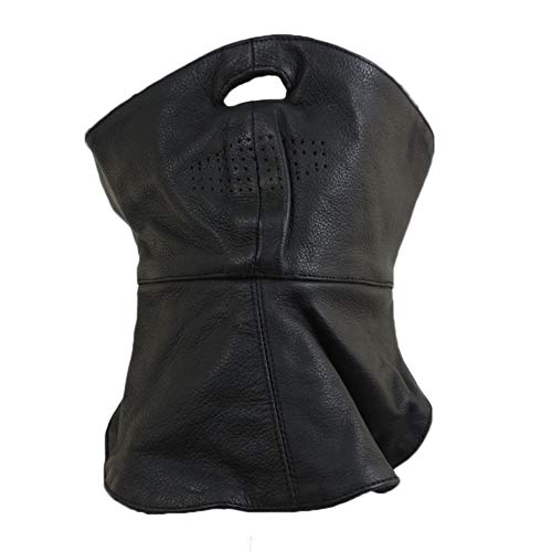 Motorcycle Biker Soft Leather Full Face Mask Bandana