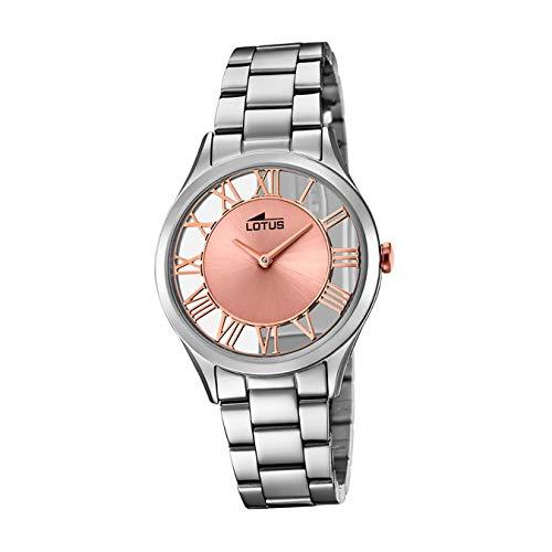 Lotus Reloj Analógico para Mujer de Cuarzo con Correa en Acero Inoxidable 18395/3