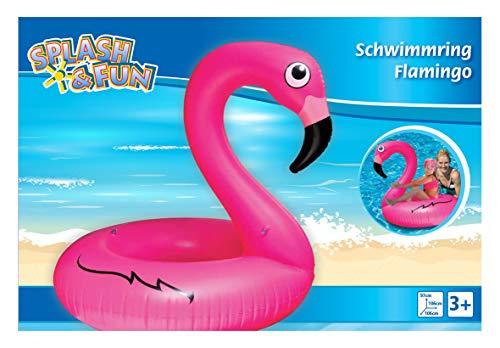 VEDES Großhandel GmbH - Ware 77502912 Splash & Fun Schwimmring Flamingo, 106x106x97cm