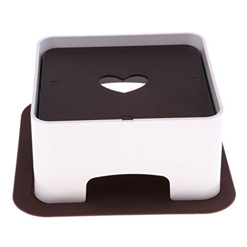 D DOLITY höhenverstellbare Napfhalter Futterständer Futterbar Napfständer mit Matte für Dein Haustier Napf, Höhen justieren