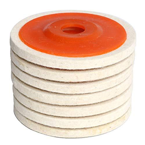 7PCS 4.5' x 7/8' Inch Wool Felt Disc Polishing Buffing Wheel Pad