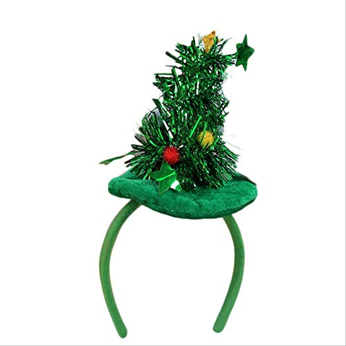 FHFF Kersthoofdversiering Nieuwjaar 2019 Xmas Party hoofdtooi hoofdband Kerstmis Stretch Headwear haarband decoratief Usa B