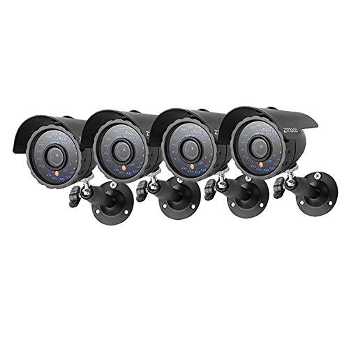 Zmodo 600TVL IR Outdoor wasserdichte Überwachungskamera, 4 Stück