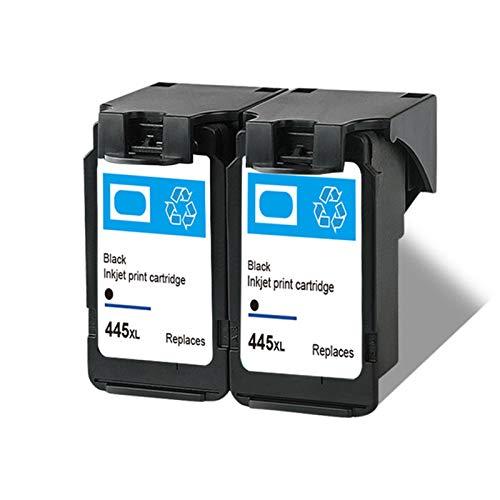 SXCD Reemplazo de Cartuchos de Tinta remanufacturados adecuados para PG445XL CL446XL, para Canon MG2440 MG2540 IP2840 MG2940 MX494 Impresora 2~Black