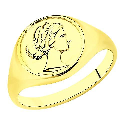 Sokolov Mujer plata de ley 925 plata chapada en oro