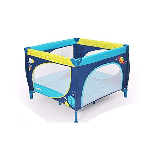 BCB Portable Bébé Lit de Voyage, Lit de Jeu, entrée du Parc pour bébé Bassinet, lit Pliant 100 * 100 * 76, léger, résistant à l'inclinaison, D