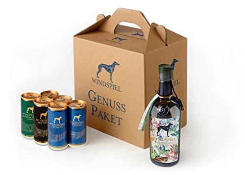 Windspiel Genusspaket Alkoholfrei 0,5 Liter & Windspiel Tonic Water (6 x 0,2 Liter) - veganes Virgin Gin & Tonic Geschenkset