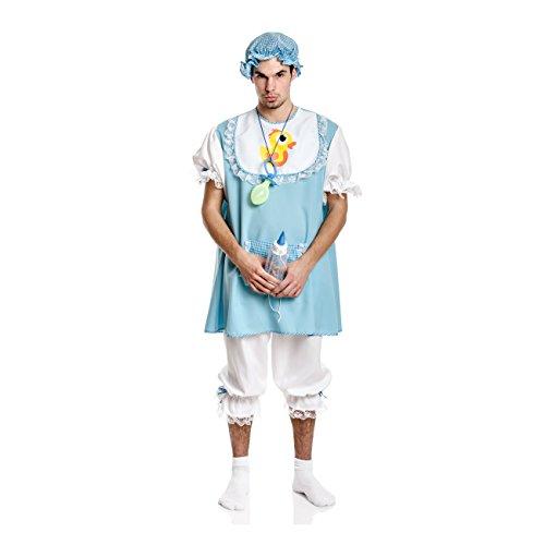 Kostümplanet® Baby Kostüm Herren mit Mütze blau Baby Junge Bube Babykostüm Größe 56/58