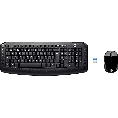 HP Wireless Desktop Set 300 Black FRENCH