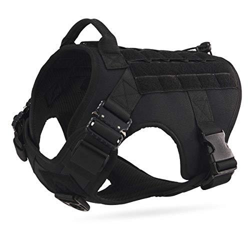 Dociote Taktisches Hundegeschirr militär für mittelgroße große Hunde Schwarz L