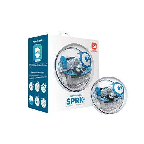 Sphero- SPRK+ Esfera robótica y Robot controlado por una aplicación Aprendizaje y programación en Stem para niños Matriz de LED programable, conexión Mediante Bluetooth, Color transparente (K001ROW)