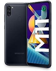 "Samsung Galaxy M11, Smartphone, Display 6.4"" HD+ TFT, 3 Fotocamere, 32GB Espandibili, RAM 3GB, Batteria 5000 mAh, 4G, Dual Sim, Android 10, 2020 [Versione Italiana], Black"