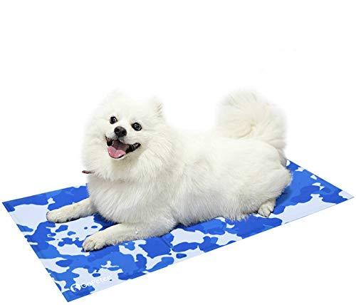 GoPetee Alfombrilla de Refrigeración para Mascotas Cama de Perro y Gato para Verano Animales Manta de Dormir Fresco Cojín,Almohadilla de enfriamiento automático (Large)