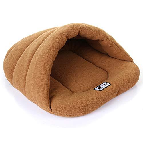 Yiwa slaapzak, fleece, warm, voor grote honden, katten, middelgroot, camel S