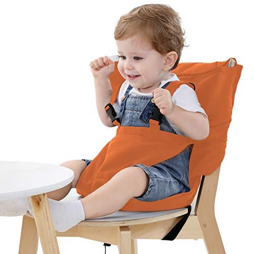 Vine ベビーチェアベルト 収納ポケット付きチェアベルト 携帯便利 調整できる 幼児旅行の安全 ダークブルー