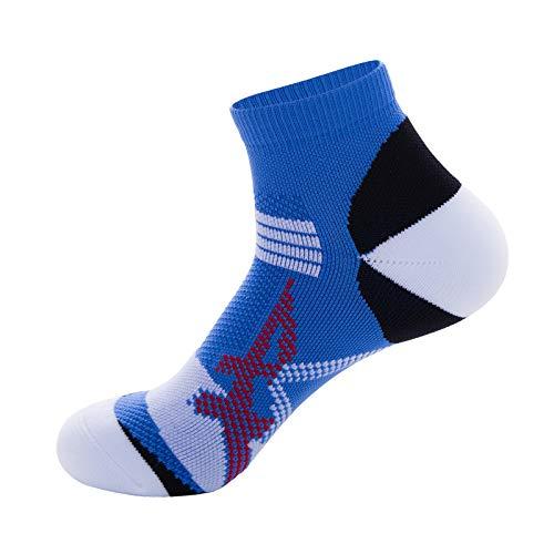Calcetines de compresión antiolores calcetines deportivos maratón running fitness velocidad transpirable calcetines secos de baloncesto azul