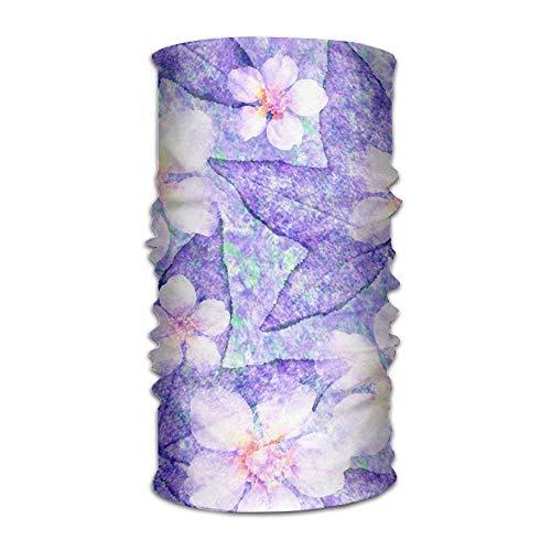 DearLord Blumen-Kopfbedeckung für Damen und Herren, für Yoga, Sport, Reisen, Workout, breite Stirnbänder, Halstuch, Helmfutter, Sturmhaube, Haarturban, Schal