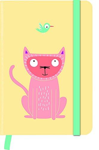 teNeues Larsen Funny Cats greenjournal Notizbuch 15 x 10 cm weiß