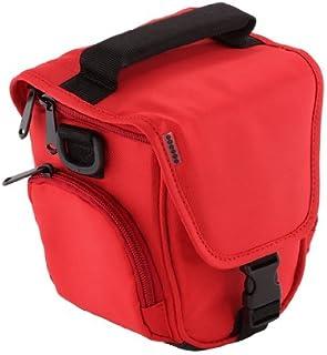 Trendz - Funda con Correa Universal para cámara compacta Avanzada Color Rojo