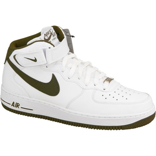 Nike Air Force 1 Mid 07 White 315123 122, Weiß (White/Brown), 42