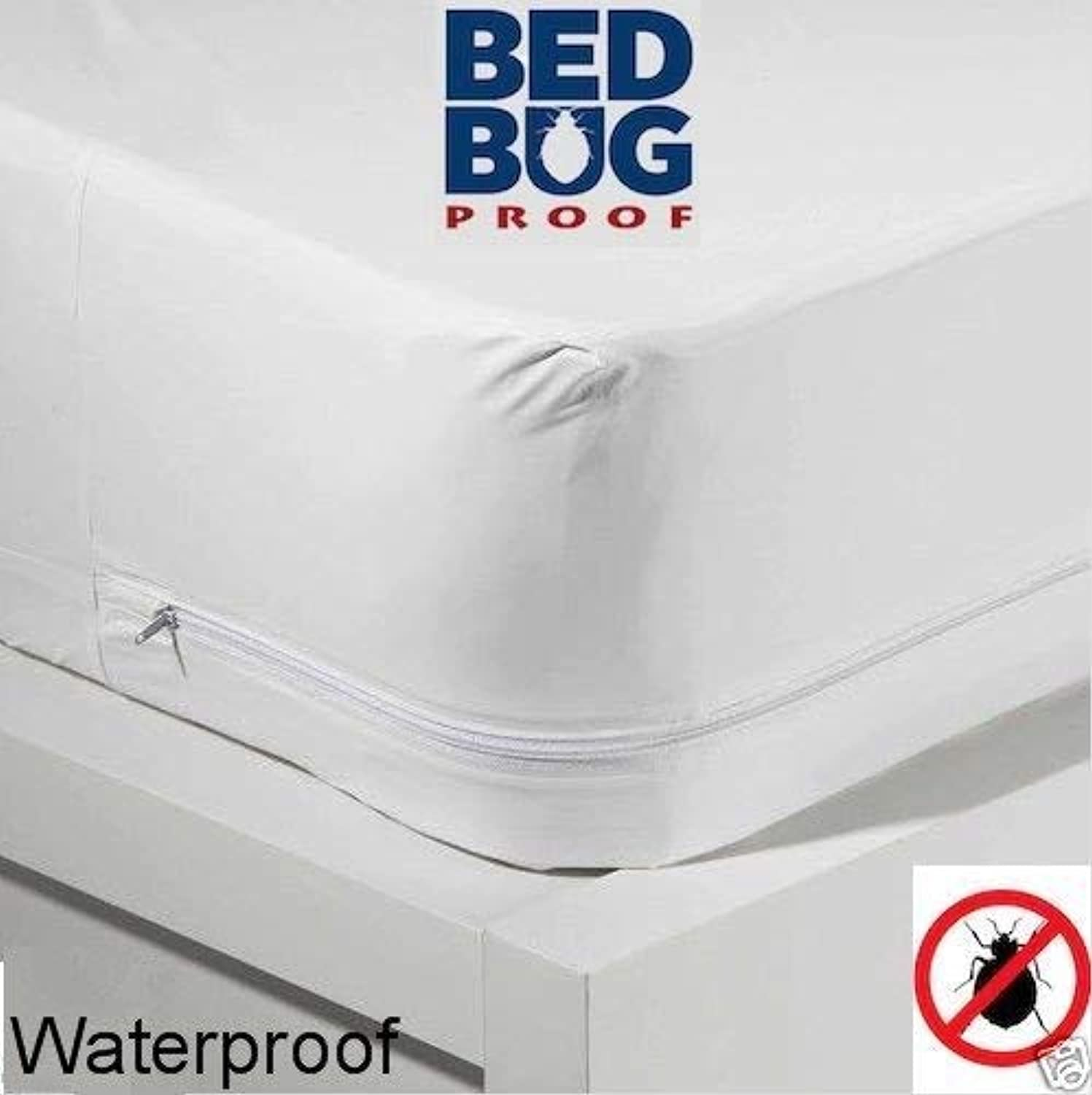 King Size Zippered Mattress Cover Vinyl Keeps Out Bed Bugs & Dust Mites Water Resistant Predector 10  Wide 80  X 78  By Diny Home & Style